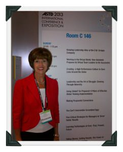 Joan continuing her education at the ASTD Convention in Dallas, Texas.